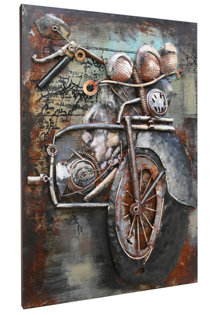 Beautiful peinture salon de jardin metal photos amazing for Peinture mural original