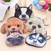 Funny Dog Earphone Bag For Earphone Earbuds Sd Card Coin Kawaii Cartoon Hold Case Storage Bag Kawaii Storage Box
