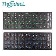 ThundeaL английская русская клавиатура наклейка s клейкая бирка сильная вязкость русская клавиатура крышка PC Keycaps стикер водонепроницаемый