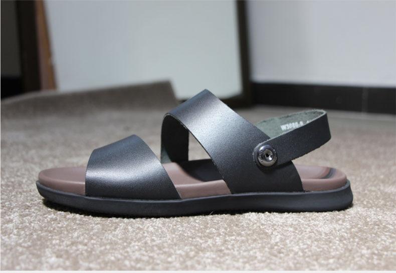 Madera del árbol de la marca de cuero genuino de verano suave - Zapatos de hombre - foto 4
