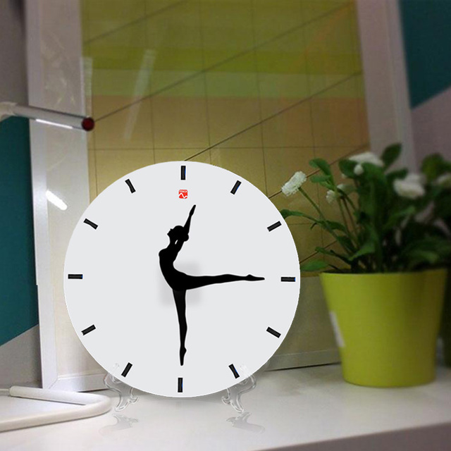 Creative ballet dance wall clock household decoration gift 10 inch
