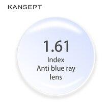 1.61 مؤشر مكافحة الأشعة الزرقاء وصفة طبية العدسات شبه الكروية الكمبيوتر المهنية عدسة المضادة للإشعاع قصر النظر البصرية قصر النظر عدسة