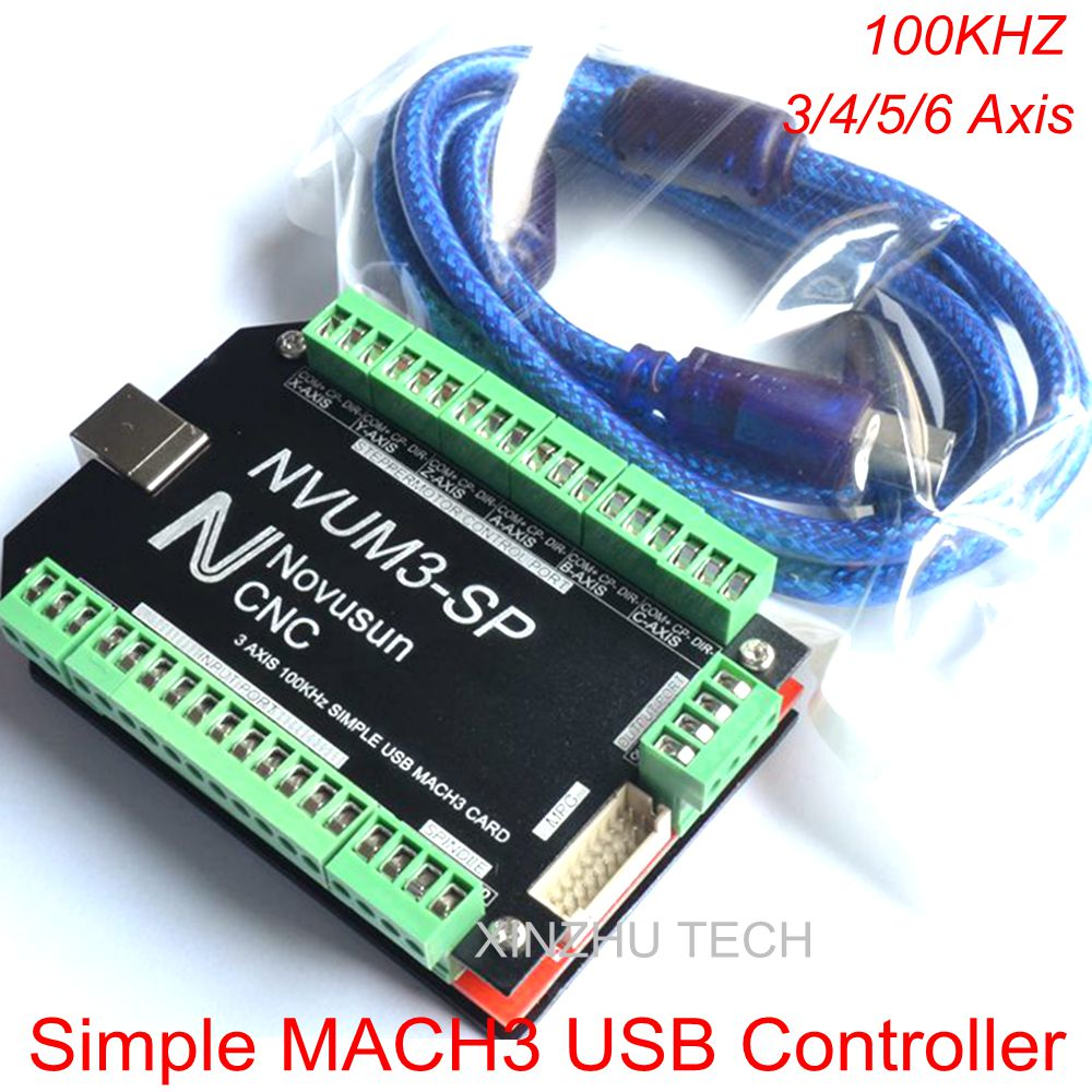 MACH3 Simple USB Card NVUM SP MACH3 100kHz CNC Router Controller USB Mach3 Control Card 3/4/5/6 Axis Stepper Motor Control