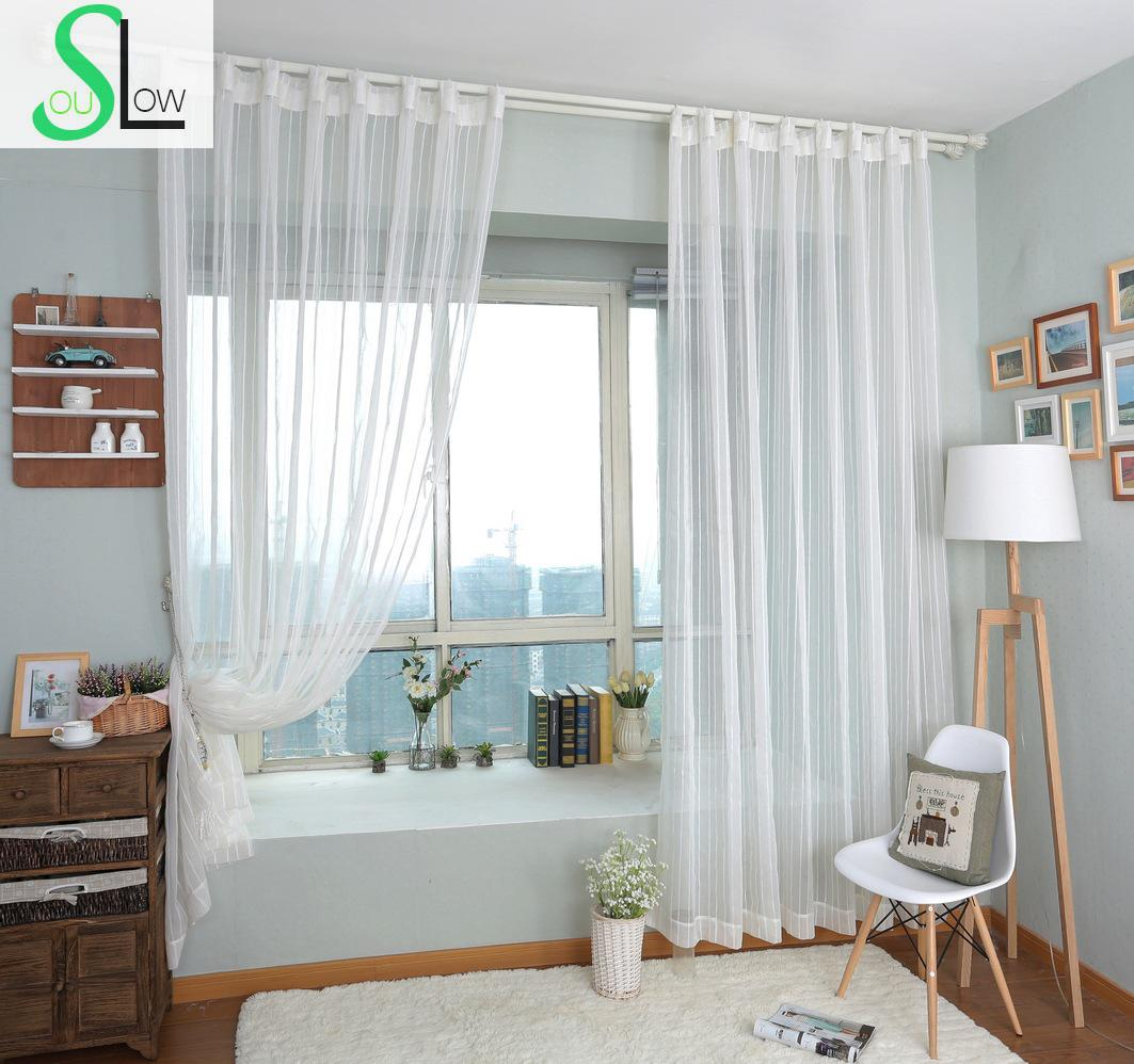 Slow Soul Green Brown White Beige Purple Cotton Linen Curtains ...