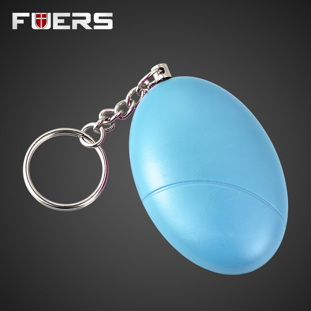New SOS Anti-Attack Egg Shape Safety Personal Anti-Defense Alarm System Protection Keychain Female Anti Wolf Device Blue