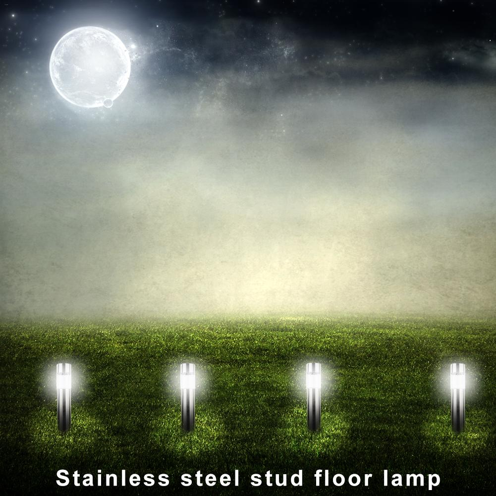 Image 3 - Stainless Steel Led Solar Lawn Lamp Outdoor Garden Path Lawn Light Solar Bollard Light Led Solar Stick Lights White Light-in LED Lawn Lamps from Lights & Lighting