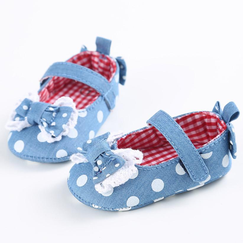 MUQGEW Baby Shoes Toddler Cute Crib Shoes Slip On Comfort Bowknot Baby Girl Shoes Loafers Soft Prewalker Anti-Slip First Walker