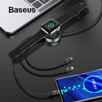 Baseus All in One Wireless Charger for Apple Watch Charger Cable for iPhone Charging 4in1 USB Cable for Apple Watch Series 4 3 2