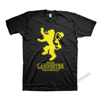 Game of Thrones House Lannister golden lion T shirts