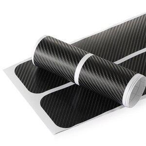 Image 3 - 4pcs Door Carbon Fiber Car Scuff Plate sticker Vinyl Decal sticker for mazda MS mazda 2 mazda 3 mazda 6 M5 cx 5