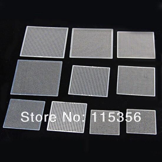 free shipping 10pcs/lot heat directly universal BGA stencils IC template