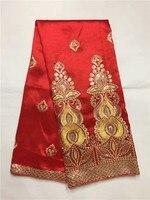 Красный африканский Джордж кружевная ткань с пайетками, Африканский Джордж Ткань 2016 Одежда высшего качества французского кружева для Для ж