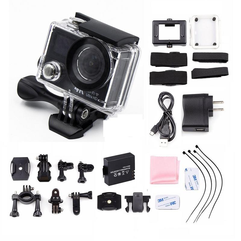 Prix pour H3 Action Sport Caméra Ultra HD 4 K 1080 P 12 MP Wifi Double écran 30 m étanche 170d lentille sport aller xiao yi 4 k pro deportiva