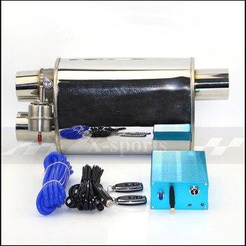 Válvula de escape de coche silenciadores de vacío Variable de acero inoxidable Universal 51mm 63mm 76mm 2 de salida de Control remoto silenciador