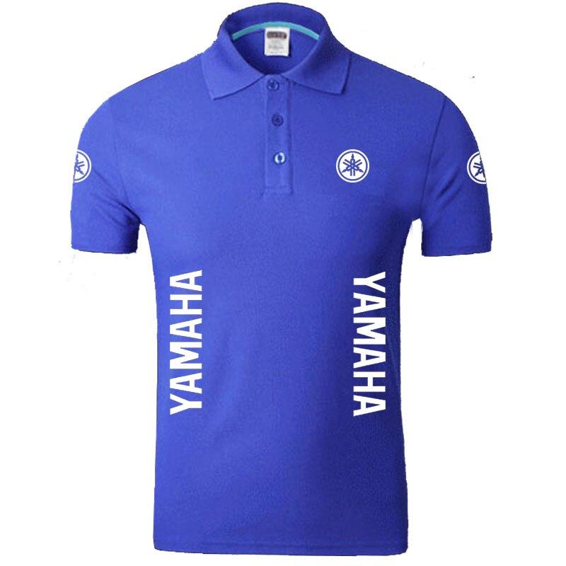 YAMAHA logo   Polo   Shirts Men Desiger   Polos   Cotton Short Sleeve shirt Clothes jerseys   Polos