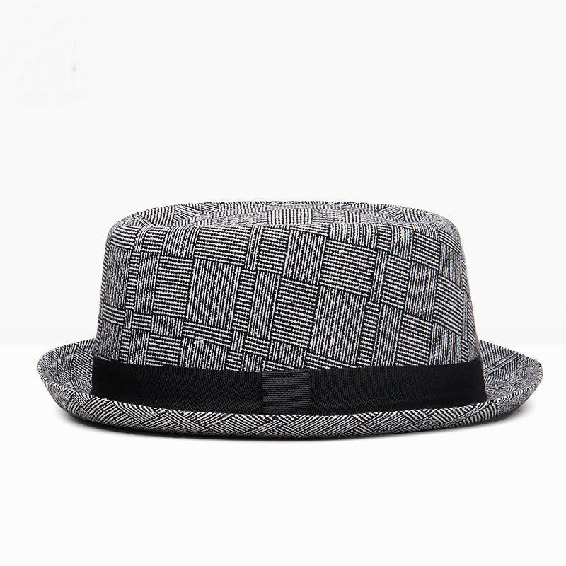 Wholesale 2018 Autumn and Winter Male Flat Top Jazz Hat Man Party Formal Hats Men Plain Fedora Hat