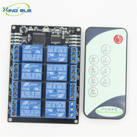 2016 Brand New 8 Way Wireless Remote Switch 220V Module 5VDC 10A Relay Receiver With IR
