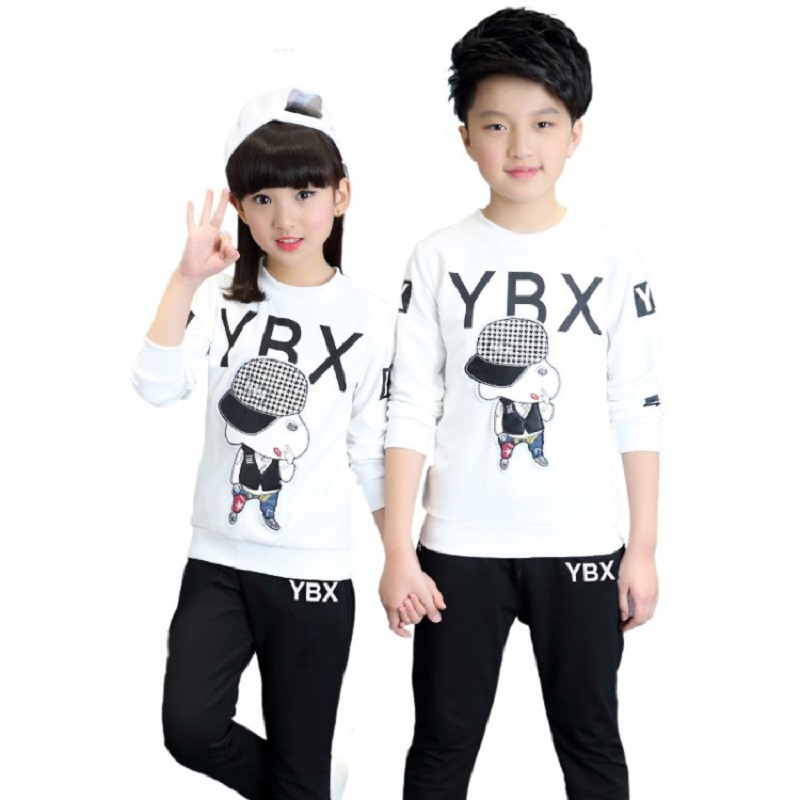 Boys Girls Clothing Set 2017 New Fashion Brand Sport Suit Sweatshirts &  Pants 4 5 6 7 8 9 10 1112 13 14 years Kids Tracksuit 6