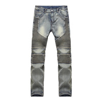 Pantalones Hombre Vaqueros Men Jeans Pants Slim Fit Robin Biker Jeans Mens Denim Joggers Skinny Jeans Homme