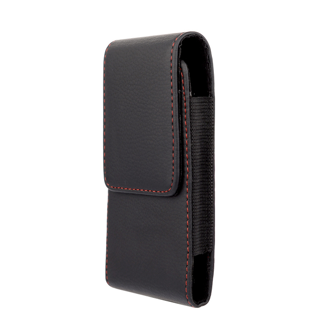 Red border Top grade Holster skin Waist hanging Belt Clip Leather Pouch Cover Case For Samsung Galaxy Note5 Dual SIM SM-N9208