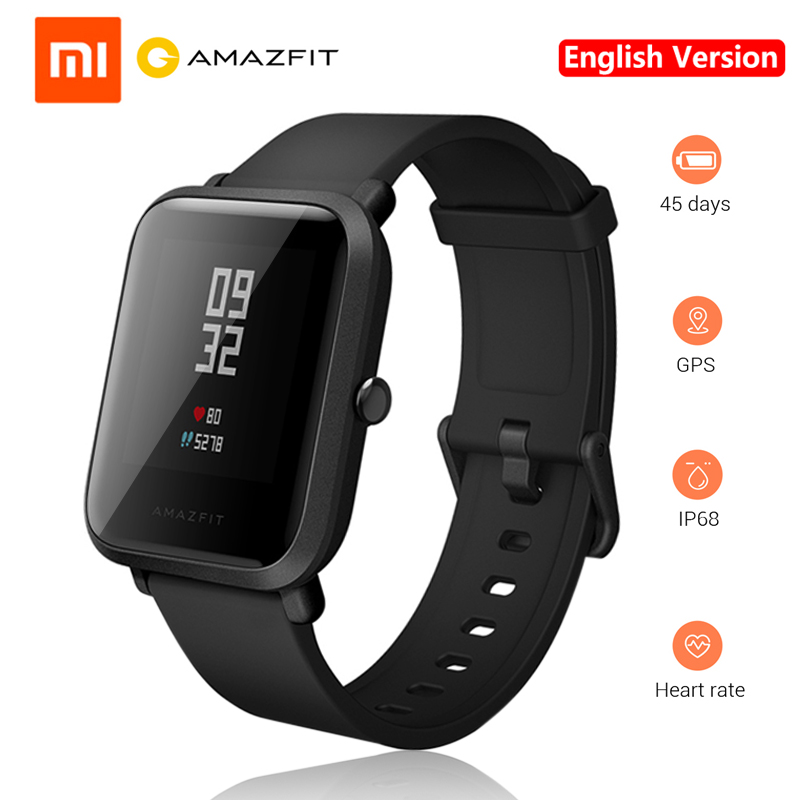 Original English Version Xiaomi Amazfit Huami Smart Watch PACE Lite Youth Smart Watch Reflection Screen GPS Recording Sports