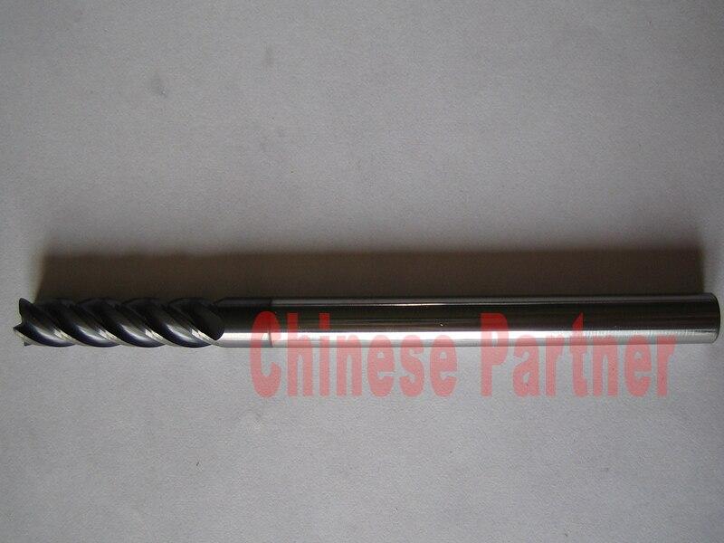 1pcs 8mm hrc45 D8*40*D8*150 Four Flutes Spiral Bit Milling Tools Carbide CNC Endmill Router bits knife