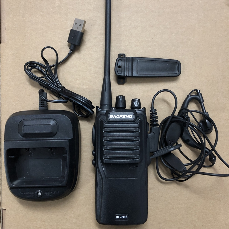 Image 4 - 2pcs baofeng 999S walkie talkie UHF 400 470mhz 5W powerful two way radio 16 channel + program cable-in Walkie Talkie from Cellphones & Telecommunications