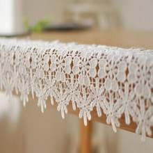 Modern elegant lace Cotton Table Runner Table Cloth Christmas party restaurant Cafe Home Decoration 1pcs price Free Shipping(China)