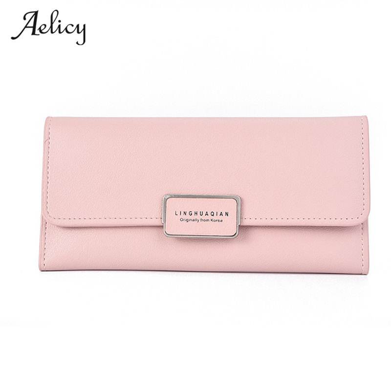 Aelicy Women's purse Pure Passport cover large fresh capacity Business card holder natural wallets for female useful long-lived