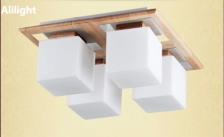 Plafoniere Da Soffitto In Legno : Moderno apparecchio plafoniere piazza vintage lampada da soffitto