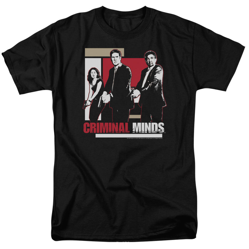 Criminal Minds Cast with GUNS DRAWN Licensed Adult T Shirt