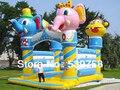 Direto da fábrica trampolim inflável, cabeça de elefante inflável slides trampolim!