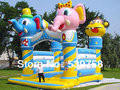 Factory direct inflatable trampoline, inflatable slides elephant head trampoline!