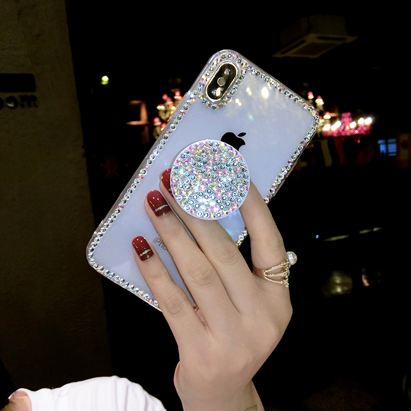 Shiny Diamond Phone <font><b>Case</b></font> <font><b>For</b></font> <font><b>Lenovo</b></font> S720 S90 S960 S850 S820 S860 <font><b>S920</b></font> A859 Phab 2 plus Telescopic support Air Stand Holder Cover image