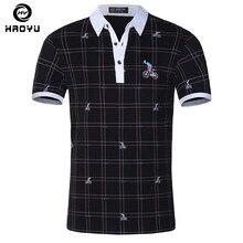 Men's Polo Shirt Famous Brand Cotton Short Sleeve Fashion Character Soild Anti-Wrinkle Regular Polo Homme Brand Clothing