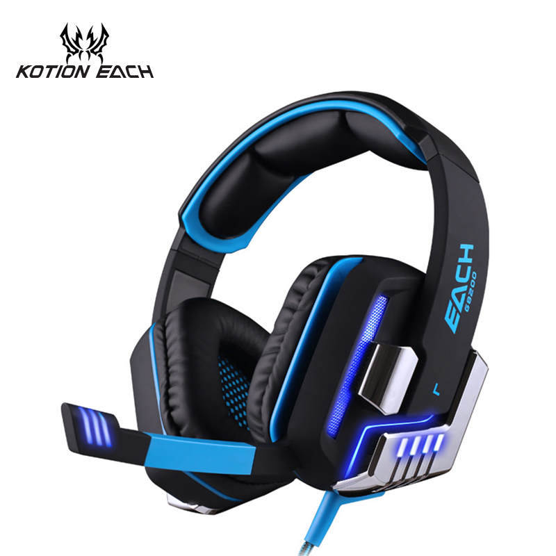 KOTION EACH G8200 Vibration shock gaming stereo bass headphone earphone 7.1 surround headset with usb LED lights for pc gamer kotion each g8200 usb 7 1 surround sound vibration game gaming headphone computer headset earphone headband with mic led for pc