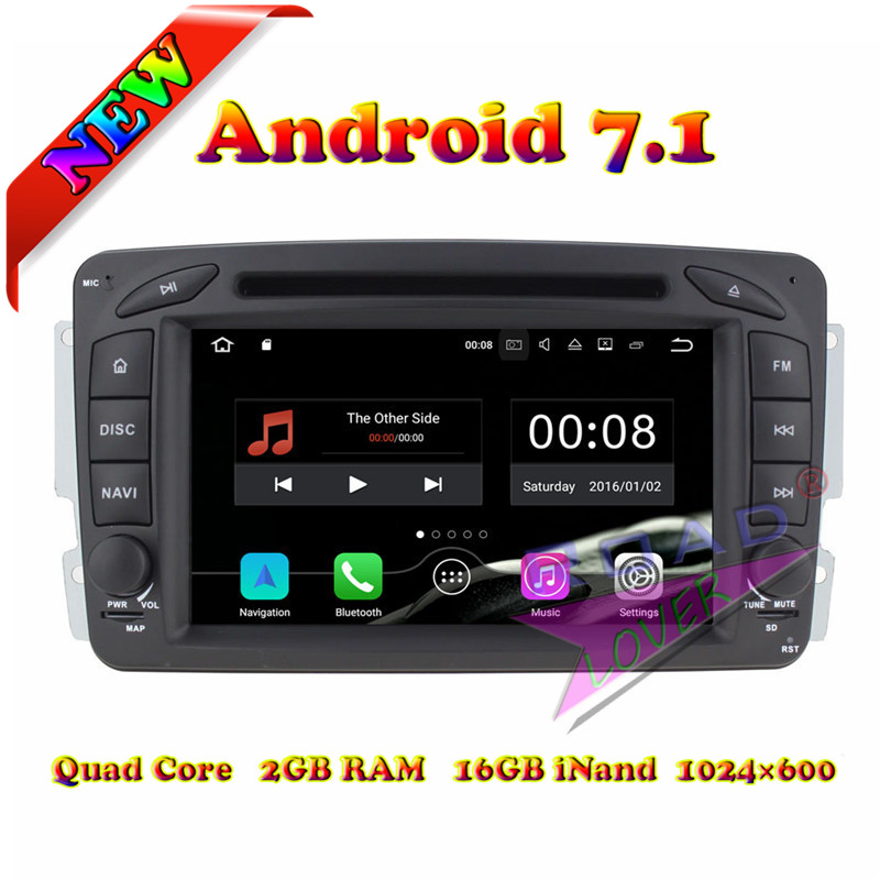 TOPNAVI 2G+16GB Android 7.1 Car DVD Player For Mercedes Benz C Class W203/CLK C209 W209/Viano/Vito W639/Vaneo Stereo GPS Navi