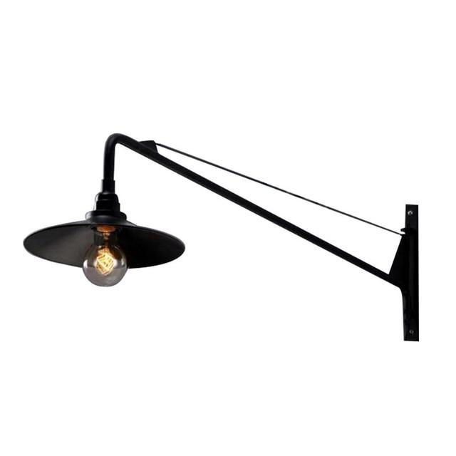 Applique murale Vintage lampe de lit industrielle américaine bras Long peut  Applique murale luminaire chambre chevet lumière Loft
