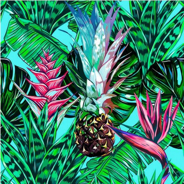 Beibehang Custom Wallpaper Tropical Floral Green Plant Printed Palm Leaf Pattern TV Living Room Bedroom