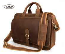 J.M.D Genuine Leather Mens Fashion Classic Business Handbags Briefcases Multi-Compartment Design Crossbody Bag 6020B
