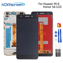 For Huawei Honor 5A Y6II LCD Display Panel Touch Screen Digitizer 5.5'' Full Assembly Y6 II 2 CAM-L21 LYO-L01 Screen With Frame 37m11hm logic board v370b1 c01 with v370b1 l01 screen