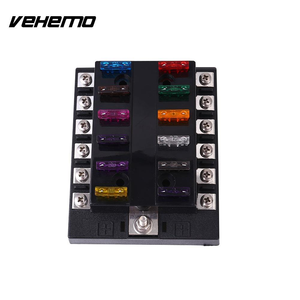 Vehemo Fuse Box Holder12 Ways Circuit Auto Ato Blade Case Safety Protection Universal In Fuses From Automobiles Motorcycles On Alibaba