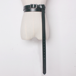 Image 1 - 2020 ヴィンテージ本物の牛のための金属ピンバックルベルト女性弓縛ら服アクセサリーワイド 2.6 センチメートル