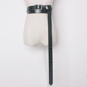 Image 1 - 2020 Vintage Cuoio Genuino Della Mucca con fibbia in metallo Cinture lunghi per Le Donne Arco legato Accessori Dei Vestiti di larghezza 2.6 centimetri