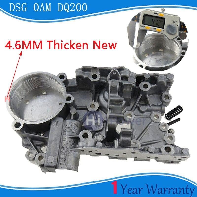 Thicken 4.6mm 0AM OAM DQ200 DSG 밸브 바디 어큐뮬레이터 하우징 AUDI Skoda Seat Passat 0AM325066AC 0AM325066C 0AM325066R
