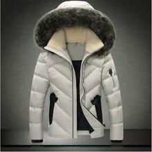 2016 men's clothing winter jacket outwear sleeves Warm Coat Fleece Fur Collar Male Solid men outwear Coat Brand Clothing
