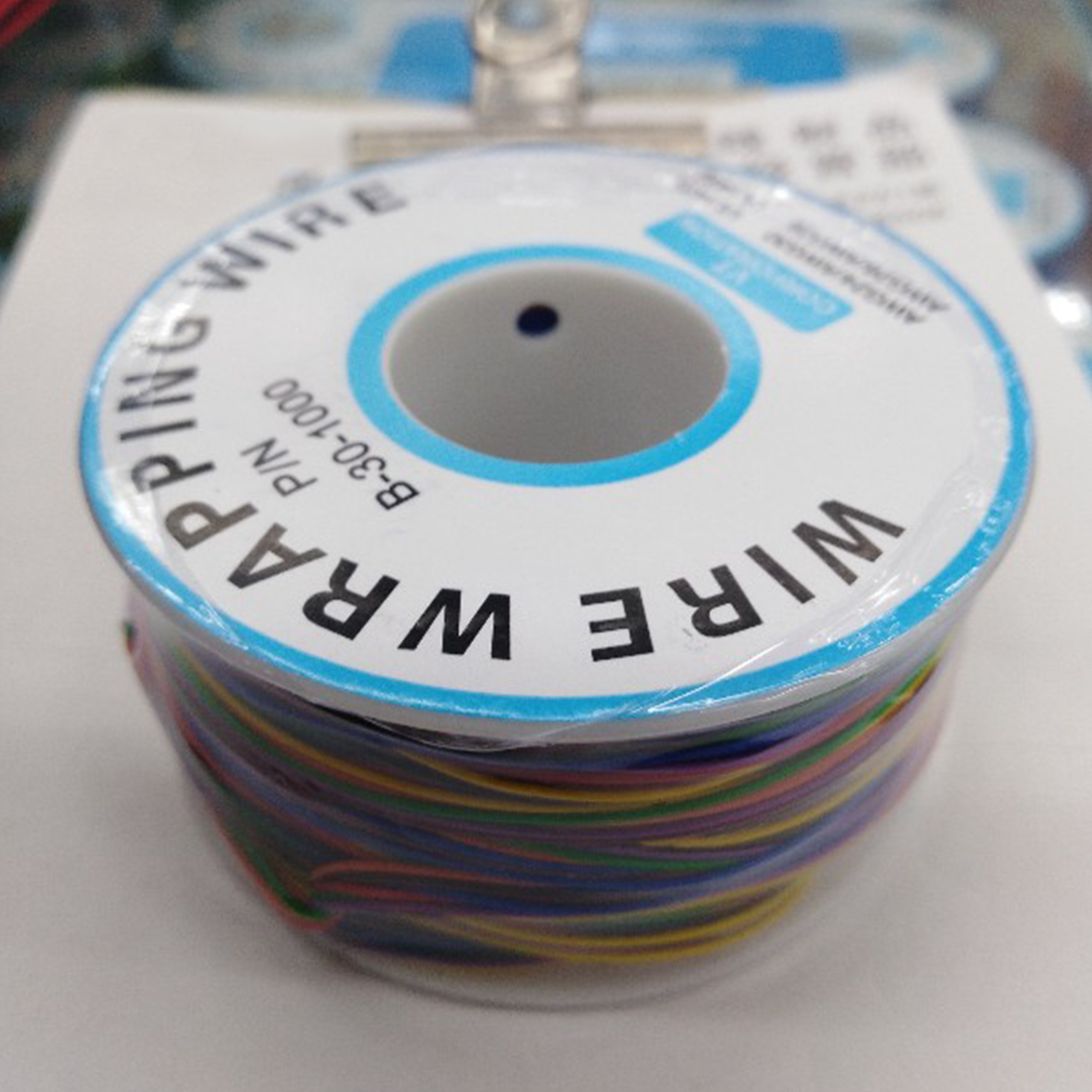 New One Roll 8 Colors 30AWG Wire Wrapping Wire Tinned Copper Solid PVC insulation ...
