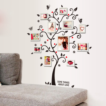 100*120Cm/40*48in 3D DIY Removable Photo Tree Pvc Wall Decals/Adhesive Wall Stickers Mural Art Home Decor 1
