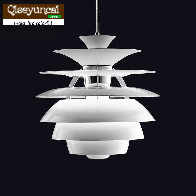 Modern Snowball Pendant Lights Denmark Louis Poulsen PH Aluminum Pendant Lighting White Hanging Lamp denmark classic design lamp louis poulsen artichoke pendant light aerospace aluminum 38cm 48cm pine cones echinacea light
