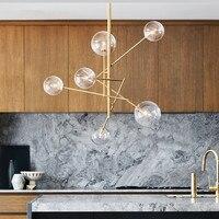 Северный постмодерн минималистский ресторан подвесной светильник Гостиная Бар лаконичный Magic Beans стекло Италия дизайнер висит свет